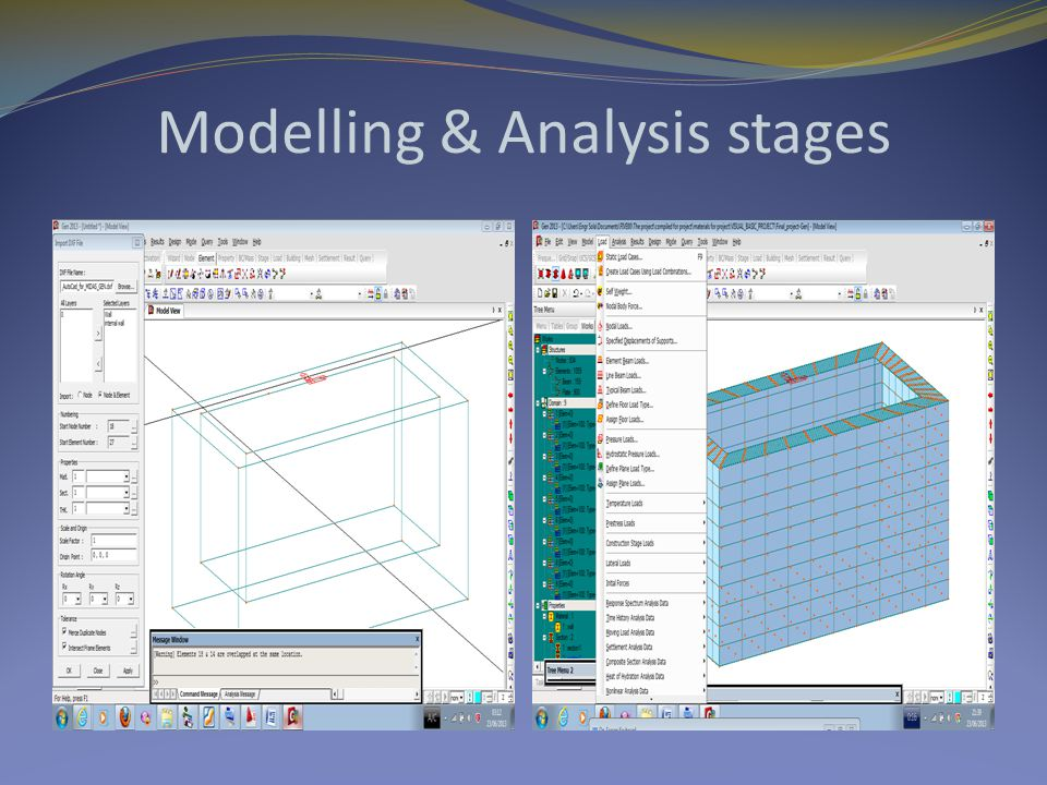 Modelling & Analysis stages