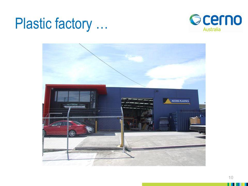 Plastic factory … 10