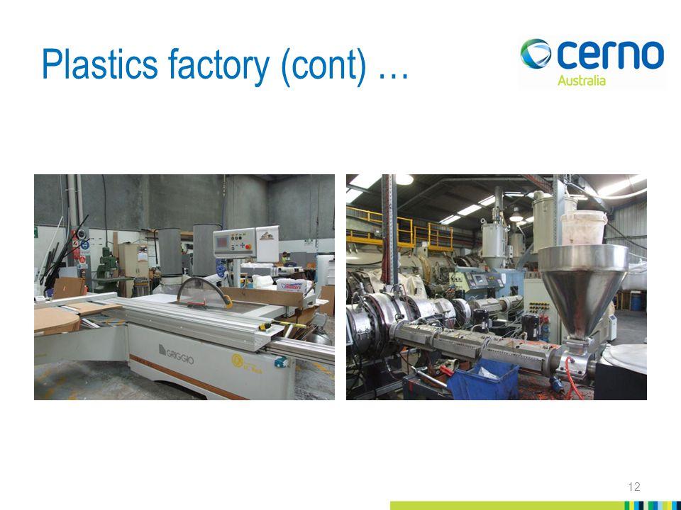 Plastics factory (cont) … 12
