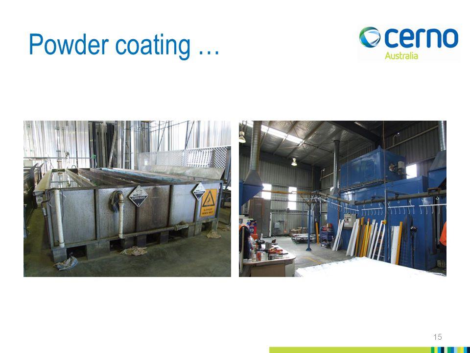 Powder coating … 15