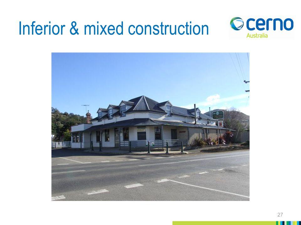 Inferior & mixed construction 27