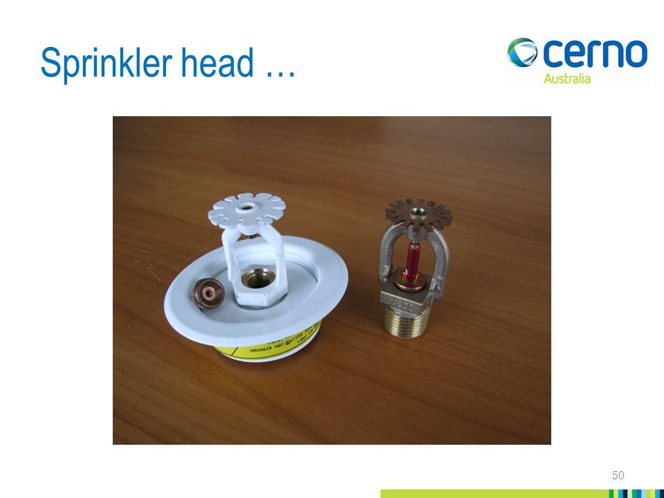 Sprinkler head … 50