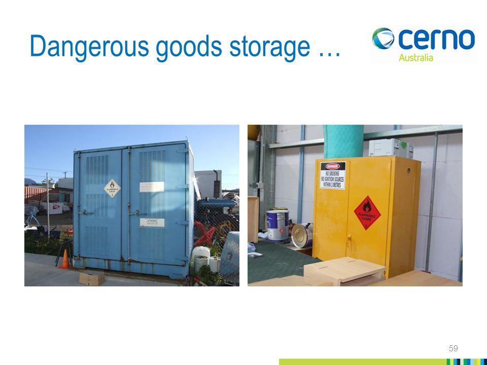 Dangerous goods storage … 59