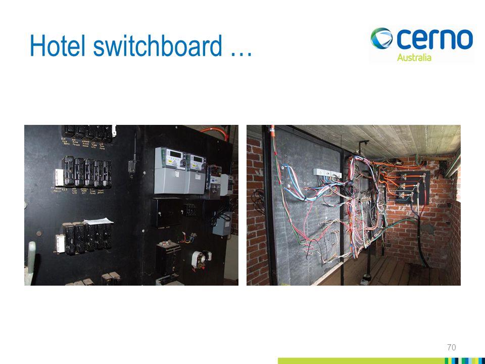 Hotel switchboard … 70