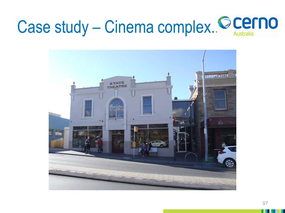 Case study – Cinema complex... 97