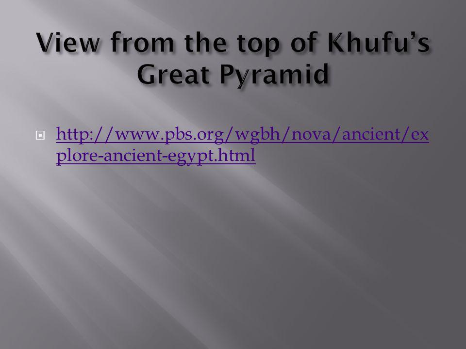  http://www.pbs.org/wgbh/nova/ancient/ex plore-ancient-egypt.html http://www.pbs.org/wgbh/nova/ancient/ex plore-ancient-egypt.html