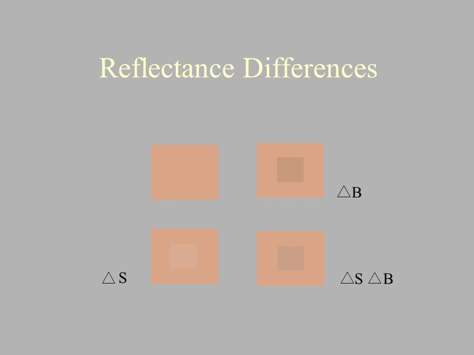 Reflectance Differences S B B S