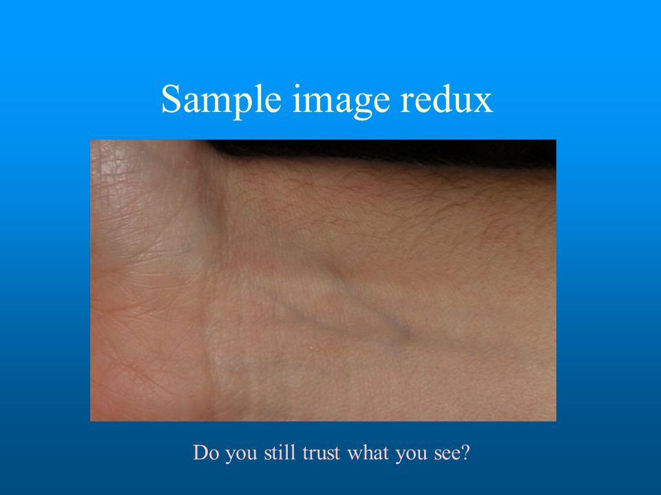 Sample image redux Do you still trust what you see?