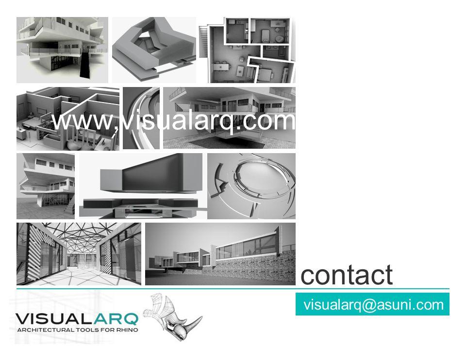 visualarq@asuni.com contact. www.visualarq.com