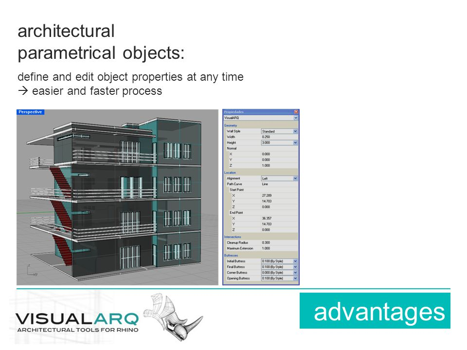 architectural parametrical objects: define and edit object properties at any time  easier and faster process advantages