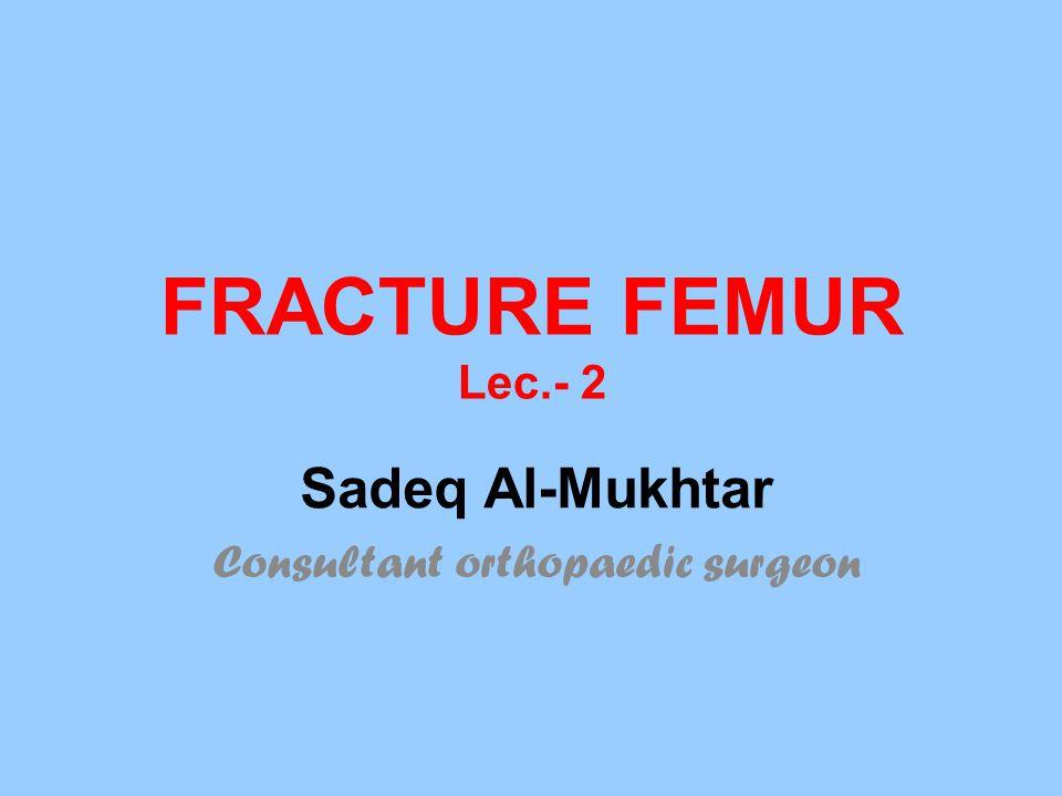 FRACTURE FEMUR Lec.- 2 Sadeq Al-Mukhtar Consultant orthopaedic surgeon