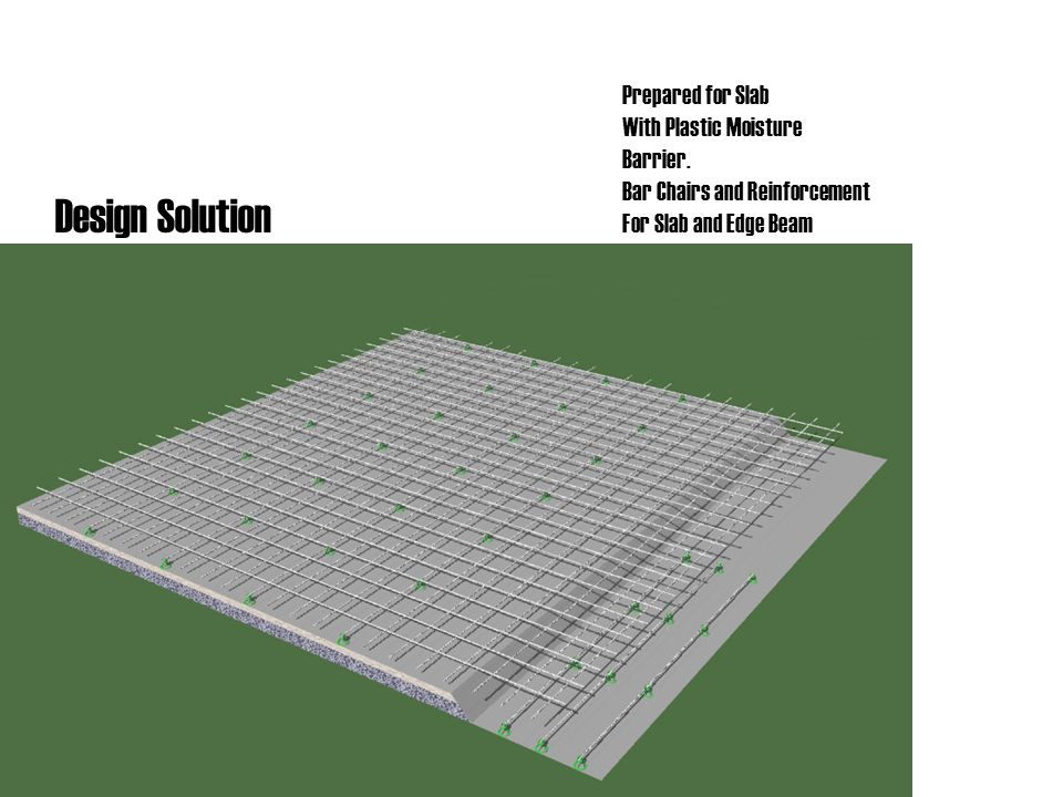 Design Solution Prepared for Slab With Plastic Moisture Barrier.