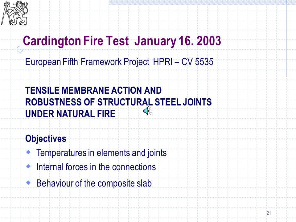 21 Cardington Fire Test January 16.