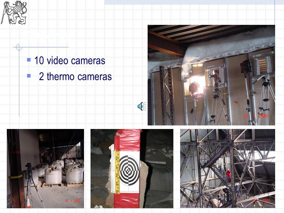 26 Cameras  10 video cameras  2 thermo cameras