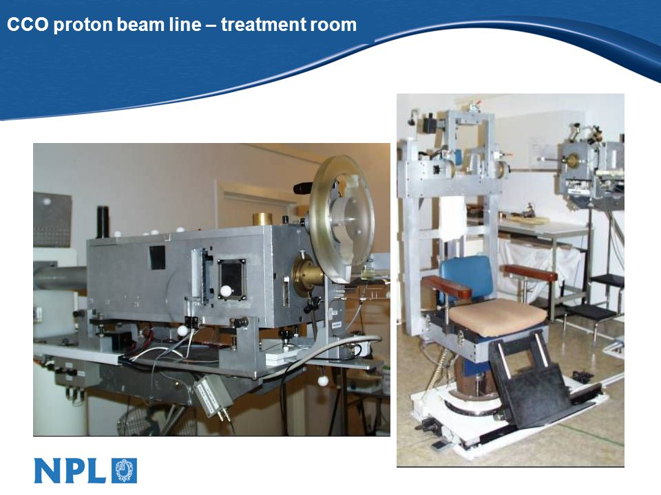 CCO proton beam line – treatment room