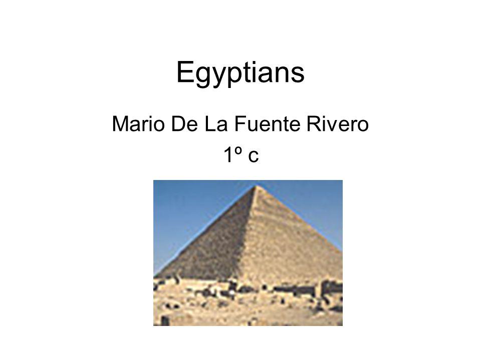 Egyptians Mario De La Fuente Rivero 1º c