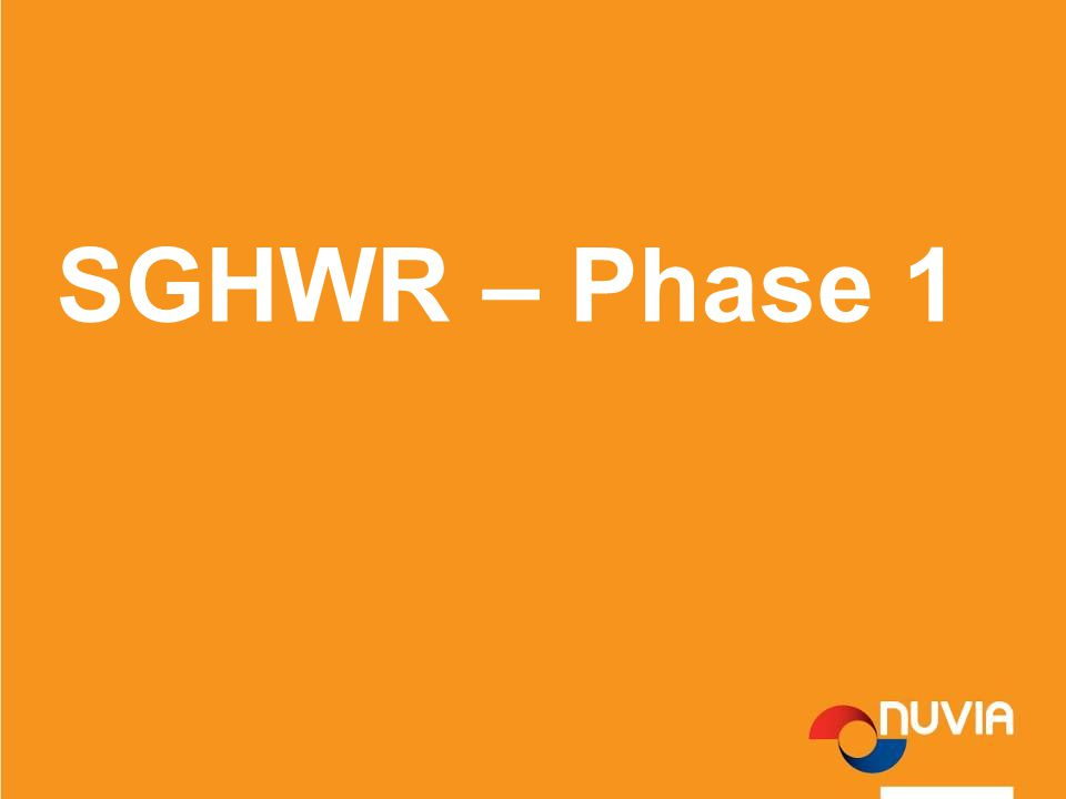 SGHWR – Phase 1