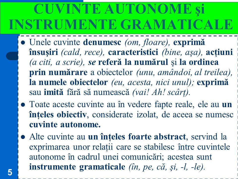 4 CUVÂNTUL = O STRUCTURĂ FONICĂ + UN SENS Cuvântul este o structură fonică (un sunet sau un grup de sunete) la care se asociază un sens, şi este capab
