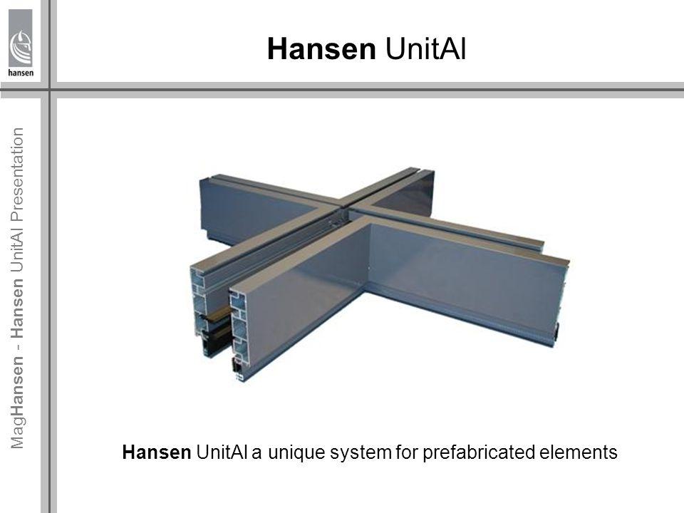 Mag Hansen - Hansen UnitAl Presentation Hansen UnitAl projects Hamnplan, Sweden 250 + 350 elements In total 5500 m² of Hansen UnitAl 12