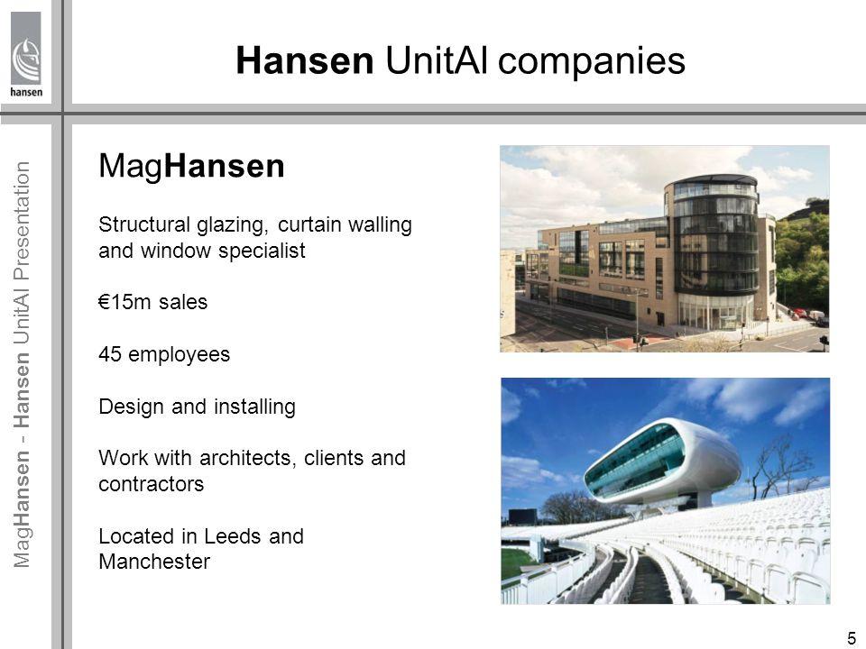 Mag Hansen - Hansen UnitAl Presentation Hansen UnitAl project progress Project team: MagHansen project team with expertise and technical knowledge for doing Hansen UnitAl projects.