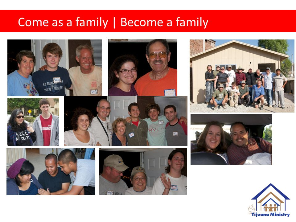 Come as a family | Become a family