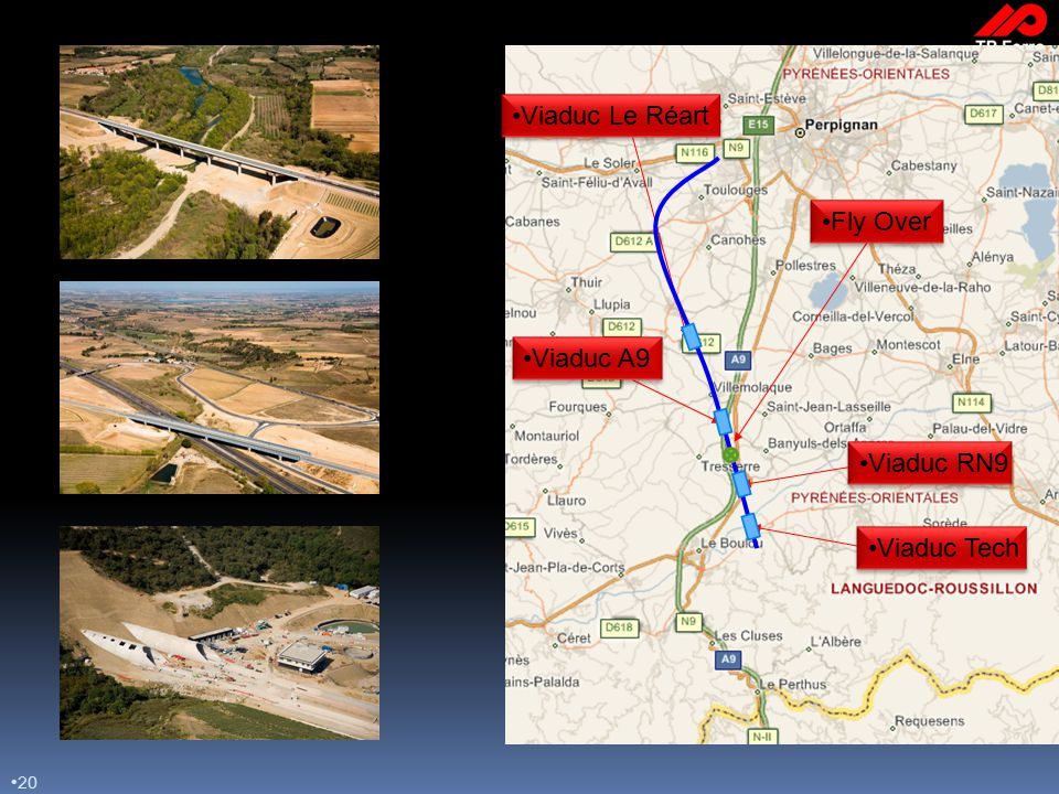 20 Viaduc RN9 Viaduc A9 Viaduc Le Réart Viaduc Tech Fly Over