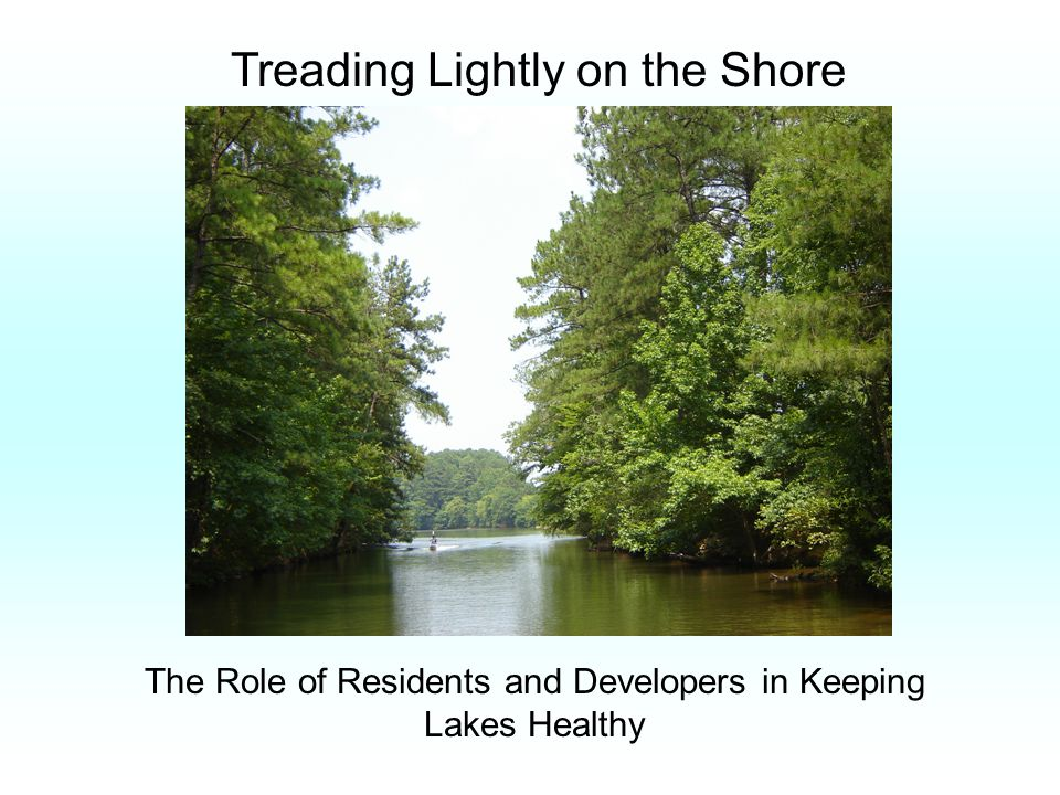 Treading Lightly on the Shore The Role of Residents and Developers in Keeping Lakes Healthy