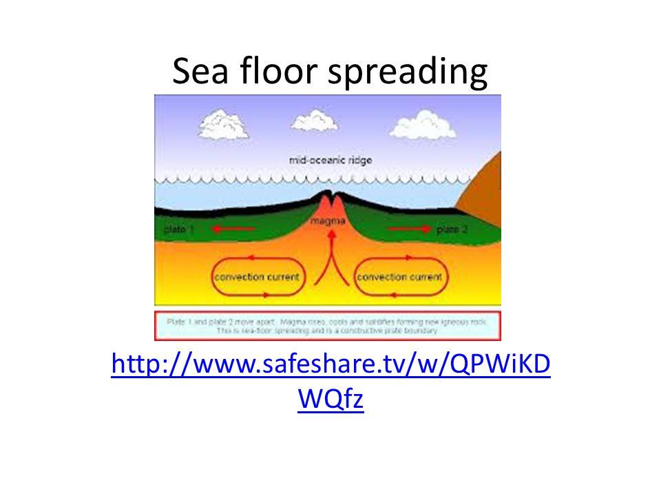 Sea floor spreading http://www.safeshare.tv/w/QPWiKD WQfz