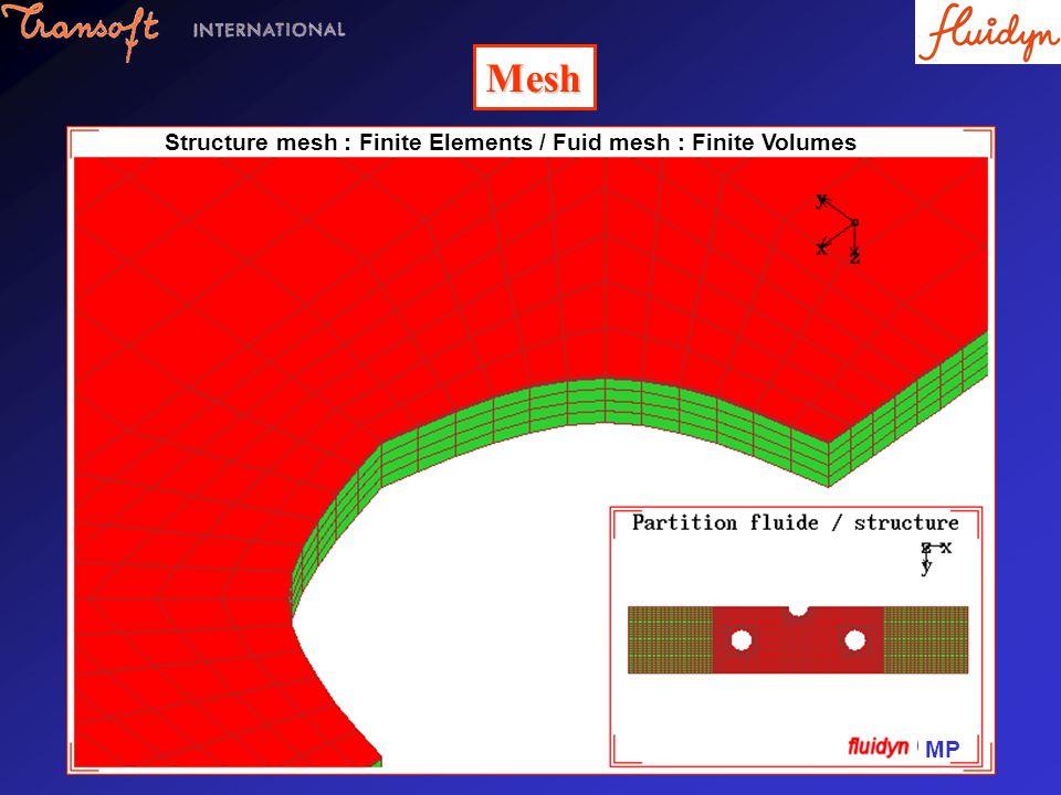 Mesh MP Structure mesh : Finite Elements / Fuid mesh : Finite Volumes