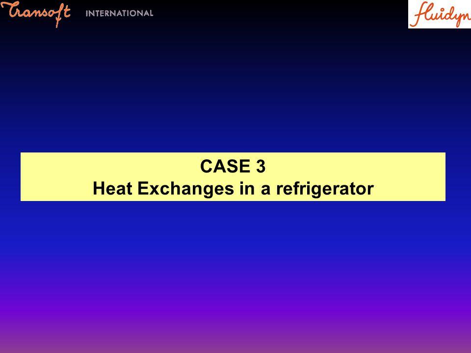 CASE 3 Heat Exchanges in a refrigerator