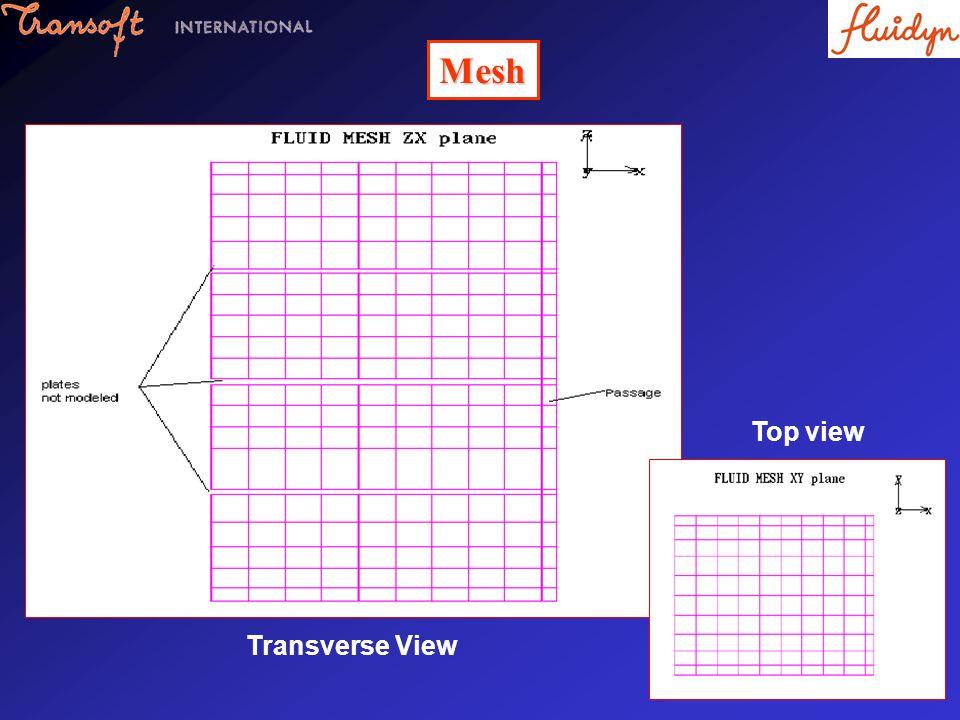 Mesh Transverse View Top view