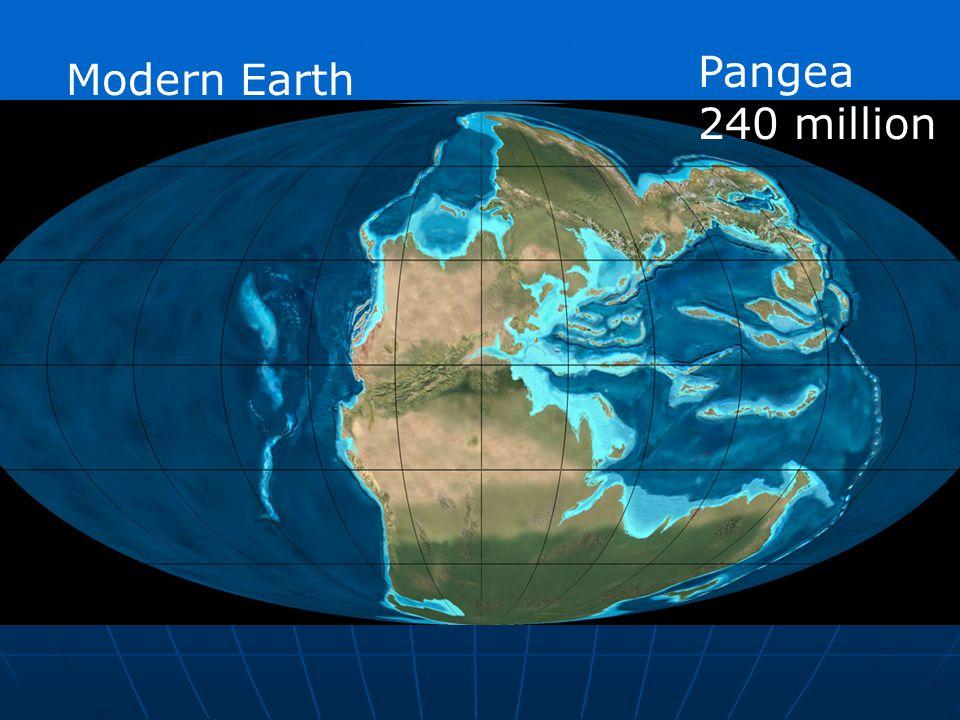 Modern Earth Pangea 240 million