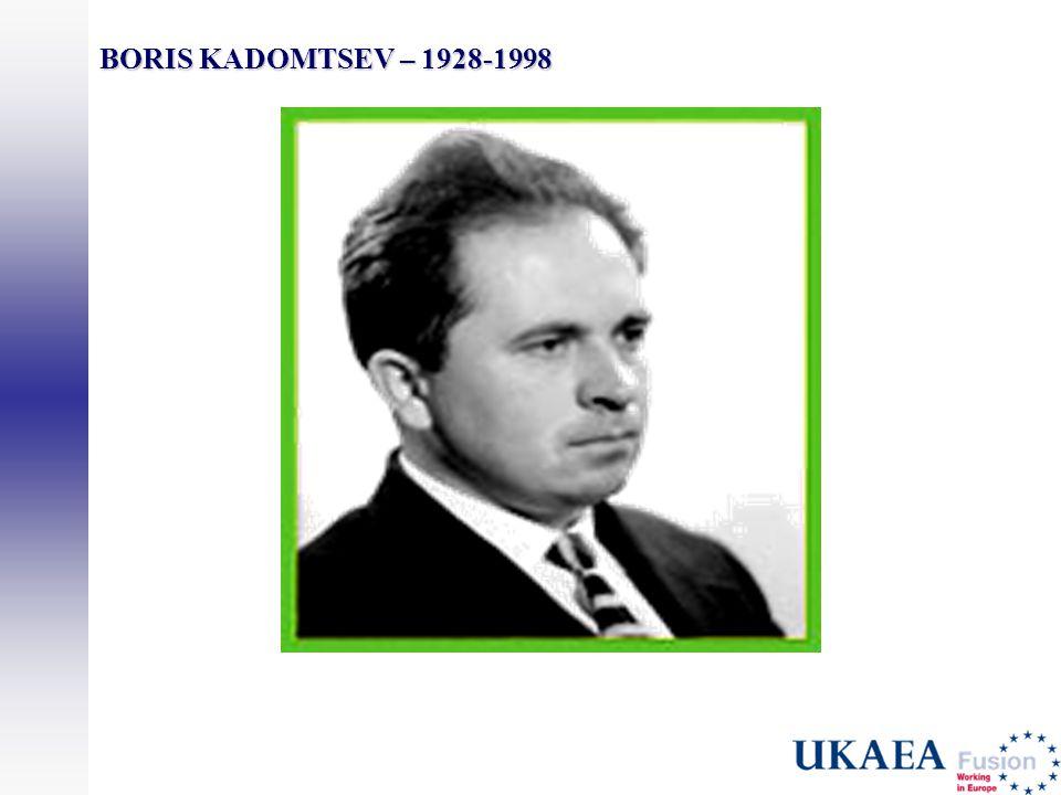 BORIS KADOMTSEV – 1928-1998