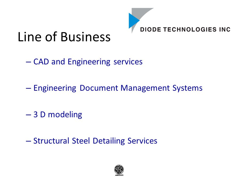 Line of Business – CAD and Engineering services – Engineering Document Management Systems – 3 D modeling – Structural Steel Detailing Services
