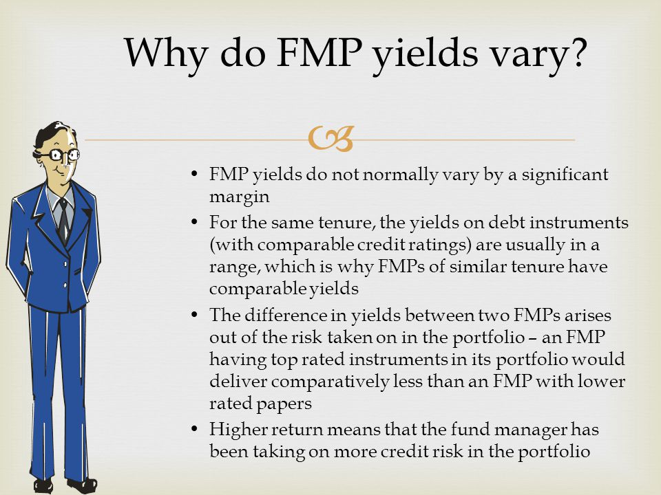  Why do FMP yields vary.