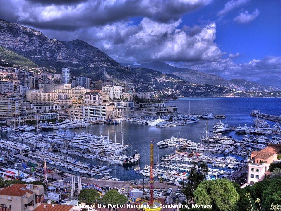 View of the Port of Hercules, La Condamine, Monaco