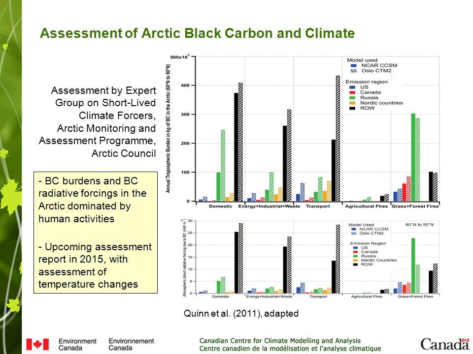 Assessment of Arctic Black Carbon and Climate Quinn et al.
