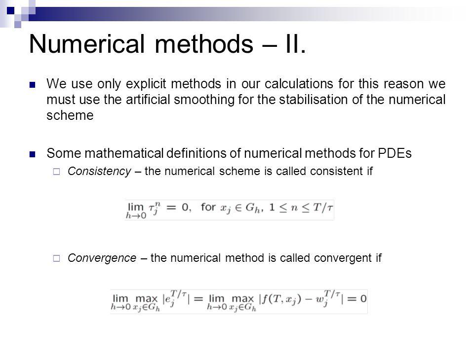 Numerical methods – II.