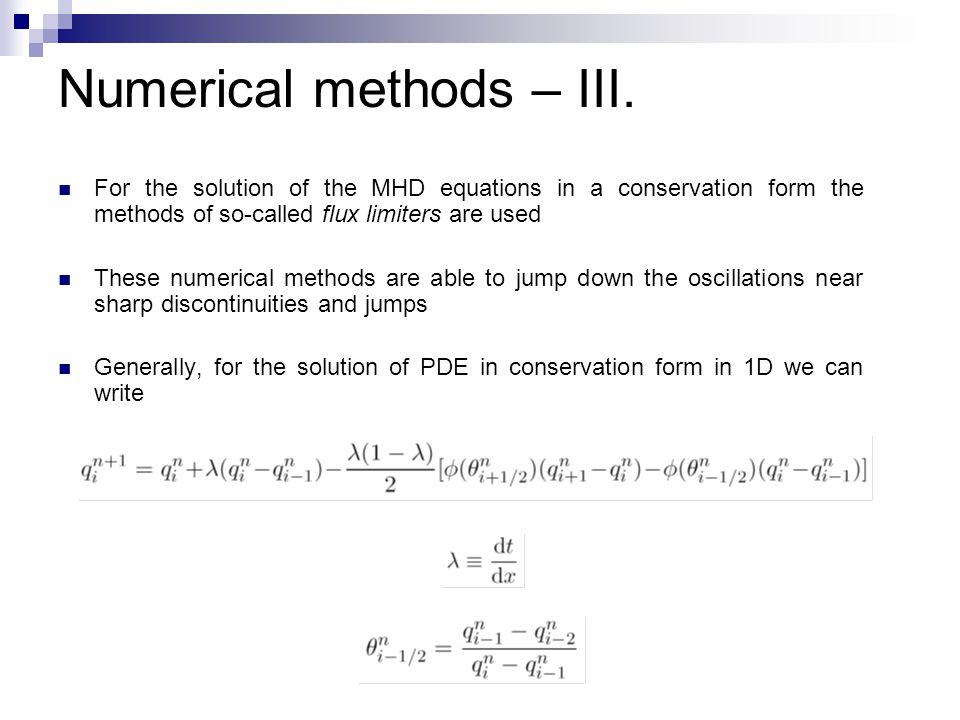 Numerical methods – III.