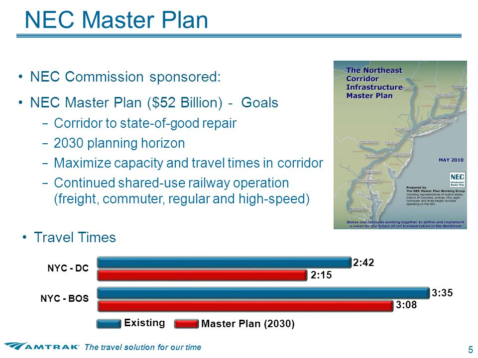 The travel solution for our time 6 Northeast Corridor - 2030 16 Amtrak Ridership Growth Under Master Plan +35% +33% +10% +8% Capacity- Constrained Growth By 2030 Under NEC Master Plan – Capacity exceeded – Limited ability to: ◦ Increase service ◦ Lower travel times ◦ Attract New Riders NEC intercity travel demand will double by 2050 Other NEC modes have limited growth potential Corridor needs new capacity to compete in worldwide economy