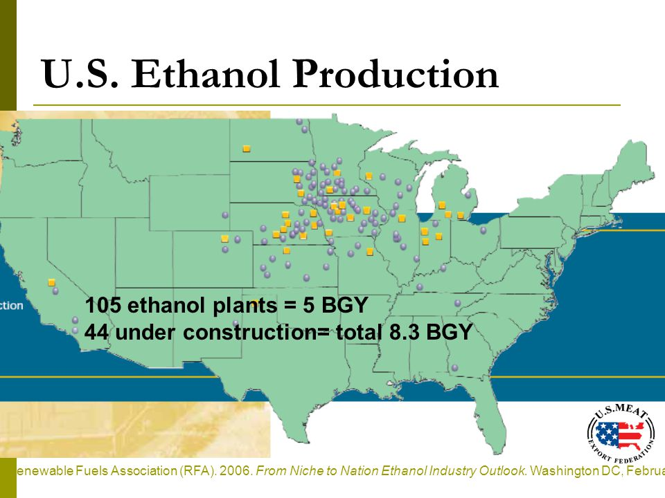 U.S. Ethanol Production Renewable Fuels Association (RFA).