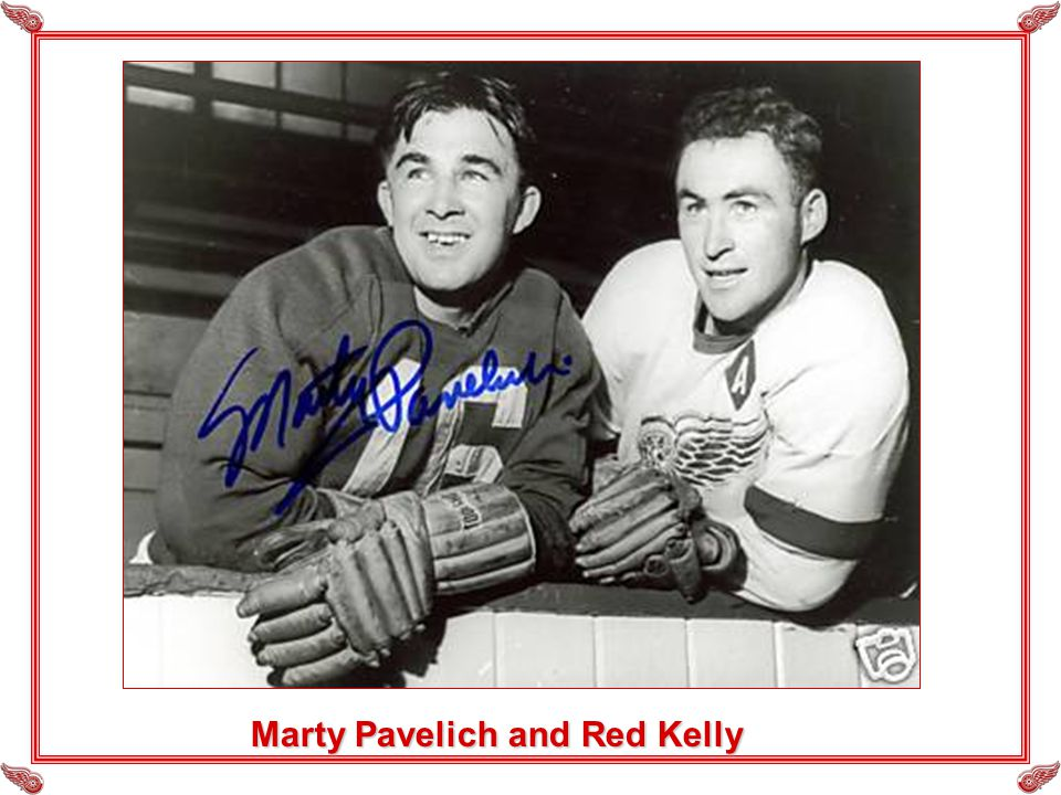 Marty Pavelich and Red Kelly