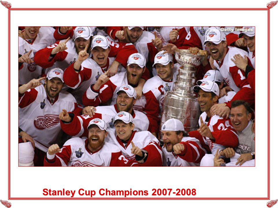 Stanley Cup Champions 2007-2008