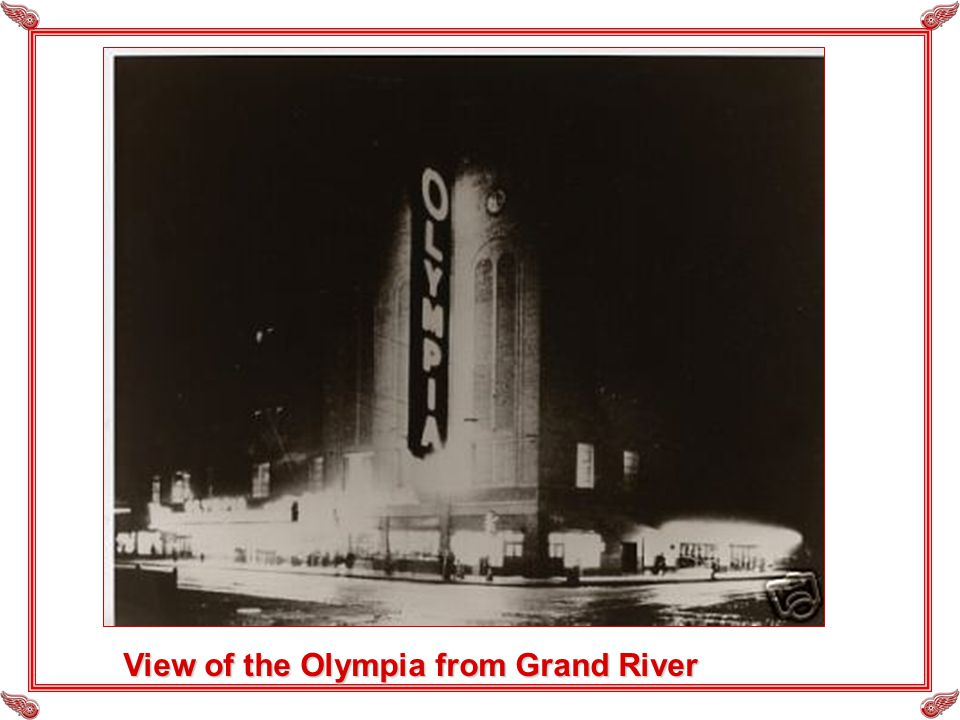 View of the Olympia from Grand River