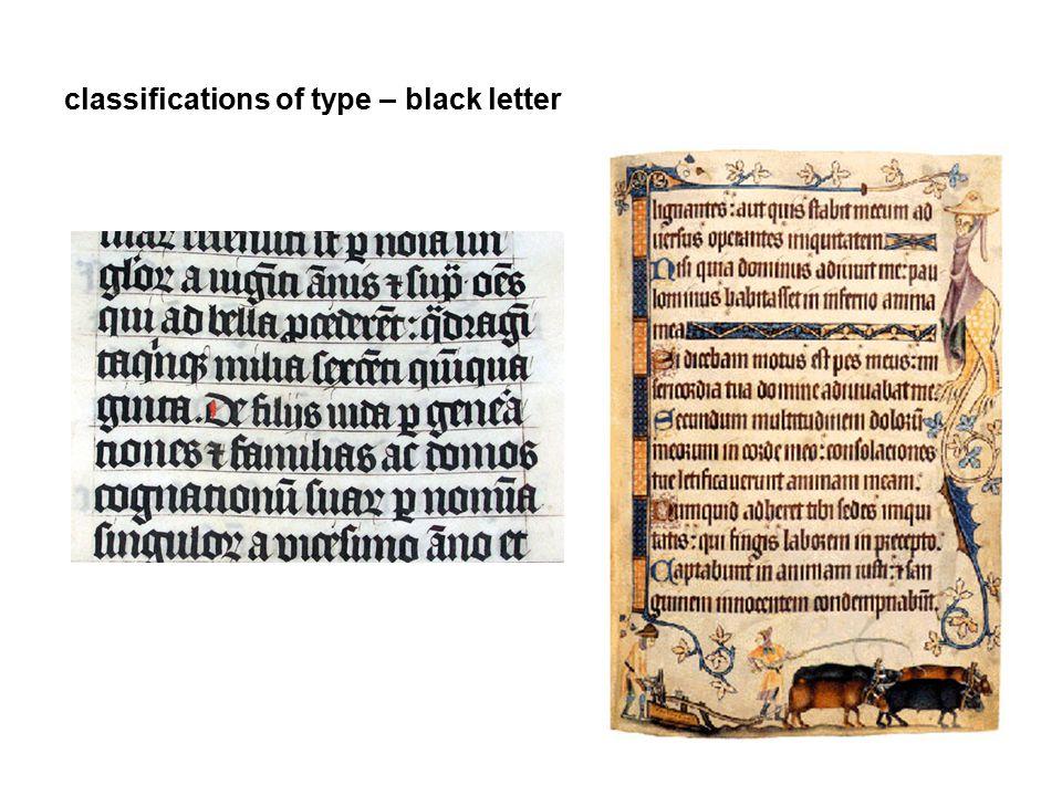 classifications of type - roman