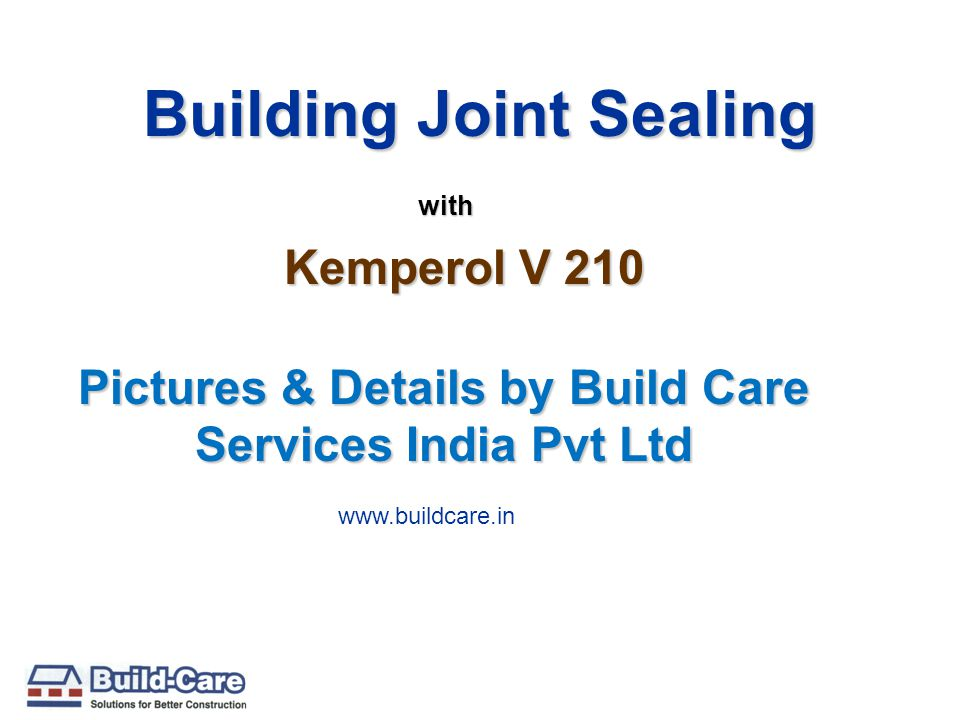 Building Joint Sealing Pictures & Details by Build Care Services India Pvt Ltd with Kemperol V 210 www.buildcare.in