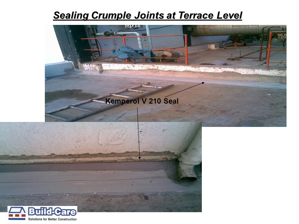 Sealing Crumple Joints at Terrace Level Kemperol V 210 Seal