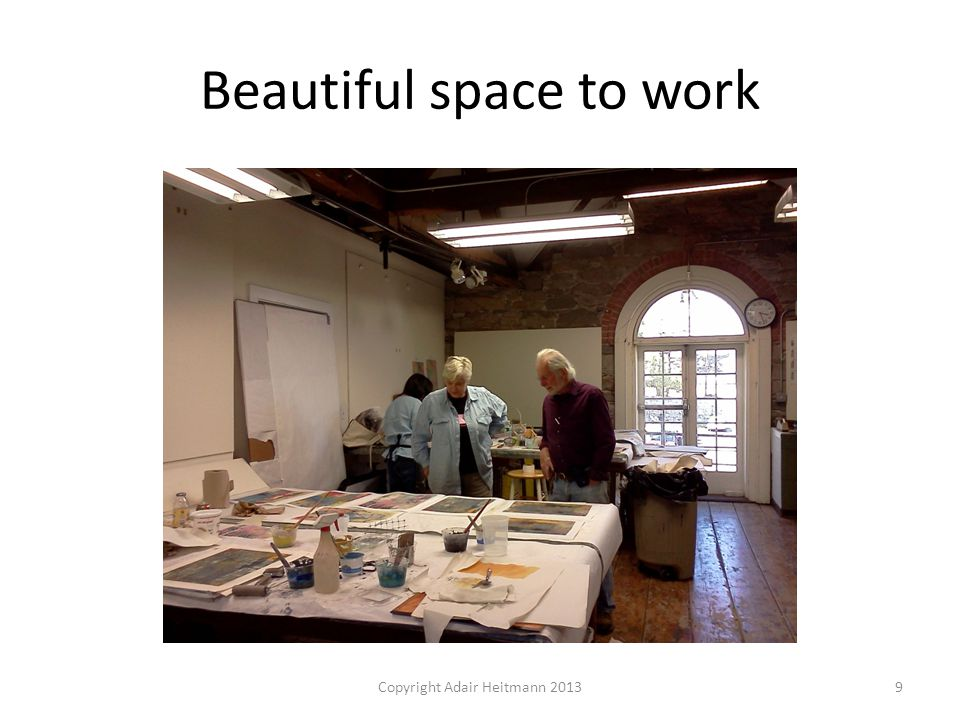 Beautiful space to work Copyright Adair Heitmann 20139