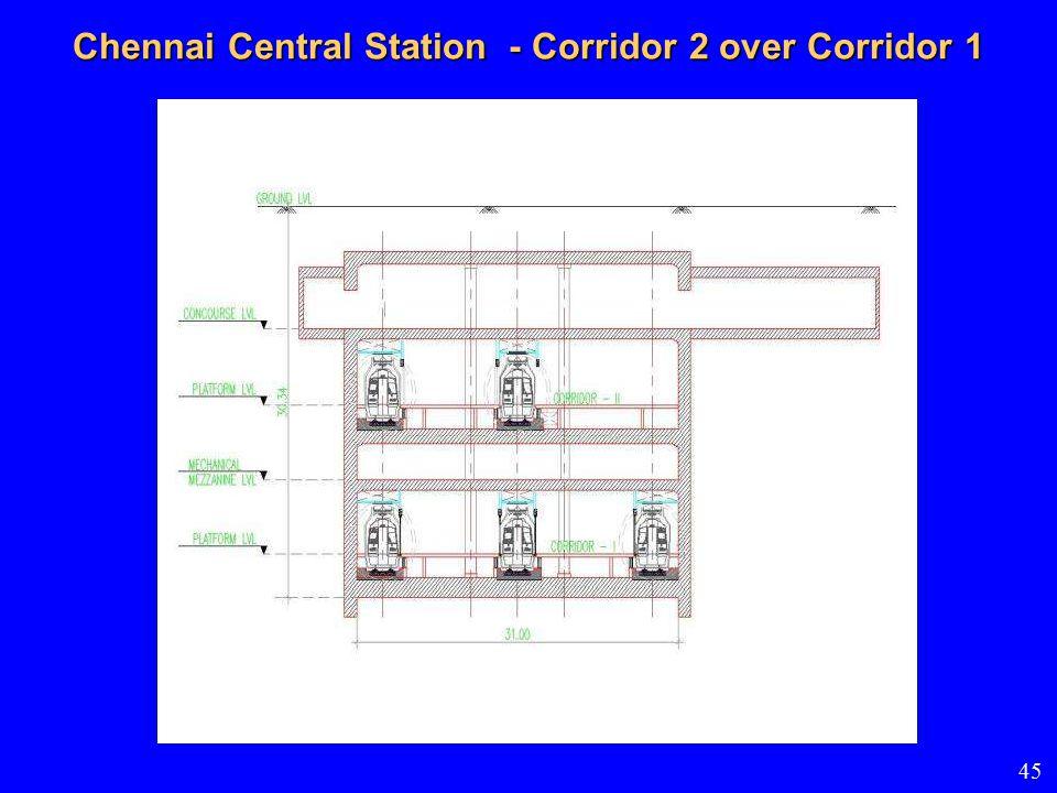 Chennai Central Station - Corridor 2 over Corridor 1 45