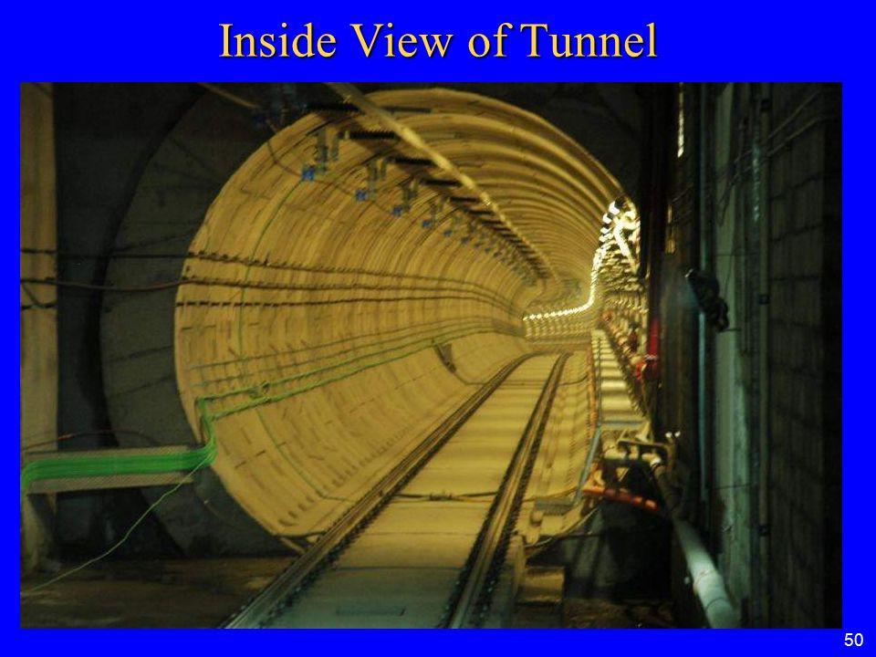 50 INSIDE VIEW OF TUNNEL Inside View of Tunnel